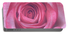 Artistic Red Rose Portable Battery Charger