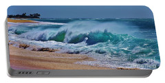 Artistic Wave Portable Battery Charger by Craig Wood