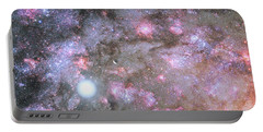 Portable Battery Charger featuring the digital art Artist's View Of A Dense Galaxy Core Forming by Nasa