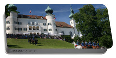 Portable Battery Charger featuring the photograph Artstetten Castle In June by Travel Pics