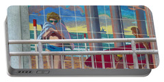 Artwork On The Boardwalk - Huntington Beach Portable Battery Charger