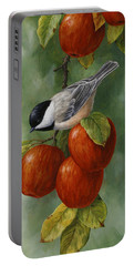 Apple Chickadee Greeting Card 3 Portable Battery Charger