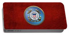 U. S. Coast Guard - U S C G Emblem Portable Battery Charger