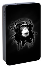 Monkey Business - Black Portable Battery Charger by Nicklas Gustafsson