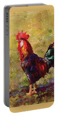 Rooster And Hen Farm Art Chicken Painting  Portable Battery Charger