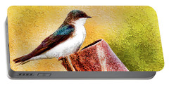 Male Tree Swallow No. 2 Portable Battery Charger by Bill Kesler