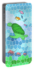 Turtle And Friends Portable Battery Charger by Methune Hively