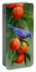 Bluebird And Peaches Greeting Card 1 Portable Battery Charger