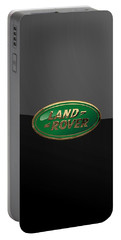 Land Rover - 3d Badge On Black Portable Battery Charger