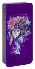 Hydrangea Portable Battery Charger by Sheena Pike