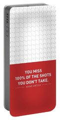 Wayne Gretzky Sports Quotes Poster Portable Battery Charger