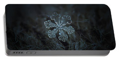 Snowflake Photo - Vega Portable Battery Charger by Alexey Kljatov