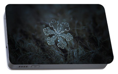 Portable Battery Charger featuring the photograph Snowflake Photo - Vega by Alexey Kljatov
