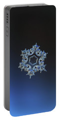 Snowflake Photo - Spark Portable Battery Charger by Alexey Kljatov