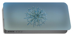 Snowflake Photo - Twelve Months Portable Battery Charger by Alexey Kljatov