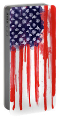 American Spatter Flag Portable Battery Charger