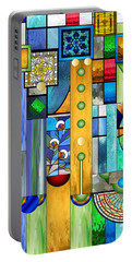 Art Deco Stained Glass 1 Portable Battery Charger