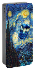 Weird Flying Phone Booth Starry The Night Portable Battery Charger