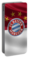 F C Bayern Munich - 3 D Badge Over Flag Portable Battery Charger