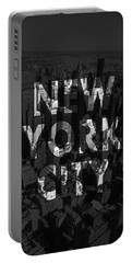 New York City - Black Portable Battery Charger