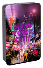 New York City - Color Portable Battery Charger by Nicklas Gustafsson