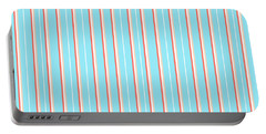 Blue Stripe Pattern Portable Battery Charger
