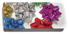 Christmas Bows And Shadows Portable Battery Charger