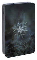 Portable Battery Charger featuring the photograph Snowflake Photo - Rigel by Alexey Kljatov