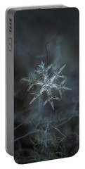 Snowflake Photo - Rigel Portable Battery Charger by Alexey Kljatov