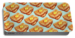 Buttered Toast Pattern Portable Battery Charger