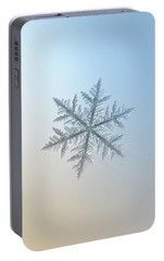 Portable Battery Charger featuring the photograph Snowflake Photo - Silverware by Alexey Kljatov