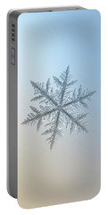 Snowflake Photo - Silverware Portable Battery Charger by Alexey Kljatov