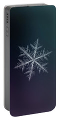 Snowflake Photo - Neon Portable Battery Charger by Alexey Kljatov