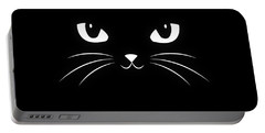 Cute Black Cat Portable Battery Charger