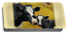 Holstein Cow And Calf Farm Portable Battery Charger