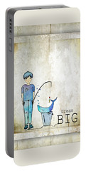 Dream Big Whale In Bucket Ginkelmier Portable Battery Charger