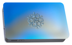 Portable Battery Charger featuring the photograph Snowflake Photo - Gardener's Dream by Alexey Kljatov