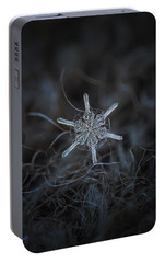 Portable Battery Charger featuring the photograph Snowflake Photo - Steering Wheel by Alexey Kljatov