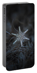 Snowflake Photo - Steering Wheel Portable Battery Charger by Alexey Kljatov
