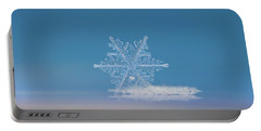 Snowflake Photo - Cloud Number Nine Portable Battery Charger by Alexey Kljatov