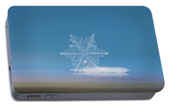 Portable Battery Charger featuring the photograph Snowflake Photo - Cloud Number Nine by Alexey Kljatov
