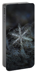 Leaves Of Ice Portable Battery Charger by Alexey Kljatov