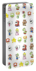 Mario Characters In Watercolor Portable Battery Charger