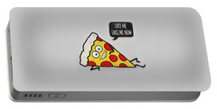 Funny And Cute Delicious Pizza Slice Wants Only You Portable Battery Charger