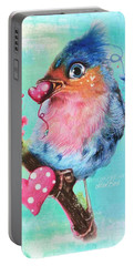 Love Bird Portable Battery Charger by Sheena Pike