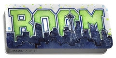 Seattle 12th Man Legion Of Boom Painting Portable Battery Charger