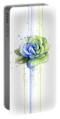 Seattle 12th Man Seahawks Watercolor Rose Portable Battery Charger