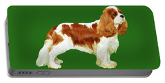 Portable Battery Charger featuring the painting Cavalier King Charles Spaniel by Marian Cates