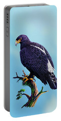 Verreaux's Eagle  Portable Battery Charger by Anthony Mwangi
