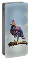 African Crowned Eagle  Portable Battery Charger by Anthony Mwangi